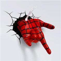 3D壁掛けライト 3Dデコライト ウォールランプ 壁掛け照明 スパイダーマンハンド手型
