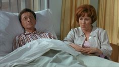 Charles Hawtrey and Gwendolyn Watts in Carry on Doctor. 1967