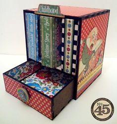 Ginas Designs Mini Album Display Case 8 x 8 Mother goose papers