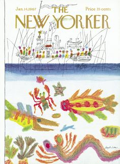 The New Yorker - Saturday, January 14, 1967 - Issue # 2187 - Vol. 42 - N° 47 - Cover by : Joseph Low