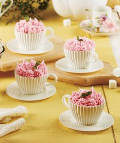 8-Pc. Silicone Teacup Bakeware Set | LTD Commodities - These would be great for a birthday party for one of my neices!