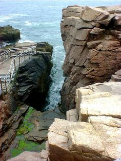 Thunder Hole, Acadia National Park, Maine. See the 'thunder' by visiting when the tides are changing.
