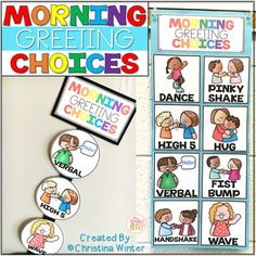 Morning Greeting Choices • Morning Greetings Social Distancing