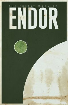 The Forest Moon of Endor / Star Wars travel posters by Justin Van Genderen Star Wars Vintage, Pub Vintage, Vintage Space, Star Wars Love, Star Wars Art, Star Trek, Poster Retro, Tourism Poster, Star Wars Poster