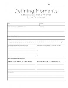 Use The Defining Moments Scripture Journal Page To Study Lives Of Great Men And Women Scriptures