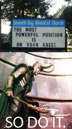 Loki ~ On your knees