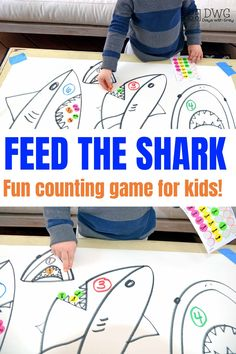Counting activity for preschool, hands on counting game, number sense, Prek counting and number game for small groups Easy Math Games, Kindergarten Math Games, Counting Games, Preschool Activities, Number Games Preschool, Indoor Activities, Number Games For Toddlers, Counting Activities For Preschoolers, Learning Games For Toddlers