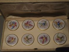 Incredible French buttons in original case!