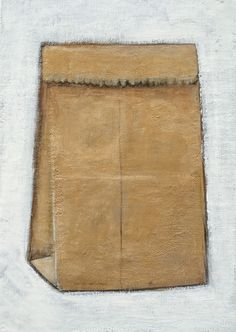 Little Brown Bag, 5x7 Acrylic & Charcoal Pencil on Canvas Board 2015 Gabe Langholtz