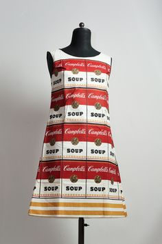 ~ Campbell�s Soup dress designed by Andy Warhol [1964] Like, share and try! :)