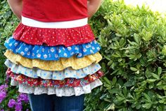 Ruffles!  This is a great way to use up scrap material.  Now, if I only knew how to sew....