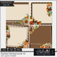 Stacked Backgrounds Layered Templates Pack No 2 [kdd_backgrounds_2] : CU Digitals, Commercial Use Digital Scrapbooking Designs