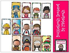 Buttonheadz Seasonal by Melonheadz from Melonheadz Illustrations on TeachersNotebook.com - (12 pages) - Buttons to add some cuteness to your classroom!!!