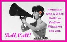 FB roll call https://www.facebook.com/pages/Pure-Romance-by-Karen/249564233019 pureromancebykaren@hotmail.com