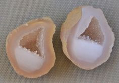 Tabasco Geode 1 Pair Cut and Polished Great for Jewelry 2976