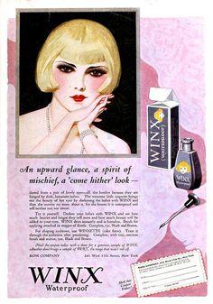 Winx Waterproof Mascara, May 1925.