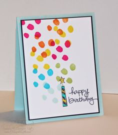 features candle from Stampin Up's Big News stamp set