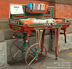 'Books on Old Handcart'  April 10, 2012 photo  ©  raider of gin (Photographer, Australia) via www.flickr.com Used Books for Sale. [Do not remove caption. International copyright law requires you to credit the artist. Link directly to the artist's website. Artists need to eat too!] PINTEREST on COPYRIGHT:  http://pinterest.com/pin/86975836526856889/ HOW TO FIND an image's original artist & website: http://www.pinterest.com/pin/86975836525507659/