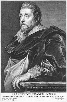 1608-1658, Frans Francken (II), by Willem Hondius  (1599-1660)After Anthony van Dyck (1599-1641). engraving,23.4x15.4 cm. Rijksmuseum Amsterdam.