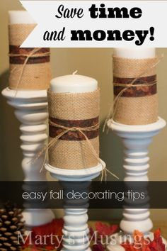 Want to decorate for fall but don't know where to start? Here are great tips for using inexpensive, repurposed or clearance items with a little bit of creativity and imagination.