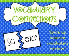 Looking for fun ways to review science vocabulary? Even if you aren't in a testing grade, it's still important to make sure your students remember concepts and vocabulary later in the year.  I'm working on that now that I am no longer in a testing grade for science.  I know the students will need to …