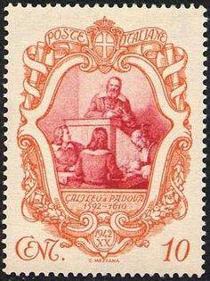 Italy Stamp 1942 - 3º Centenario della morte di Galileo Galilei - Galileo docente all'università di Padova