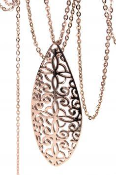 ORNAMENT Halskette rosé vergoldet Ornament, Pendant Necklace, Jewelry, Fashion, Gemstone Earrings, Armband, Decorating, Jewlery, Moda