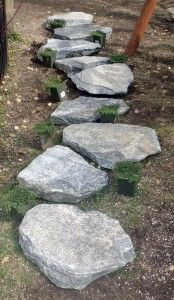 1000 images about hillside stone steps on pinterest for How to build a stepping stone path