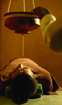 Shirodhara - This is an ayurvedic treatment dating back to the origins of ayurveda itself. A mildly heated herbal oil is poured the forehead where the third-eye is believed to be. It helps in relaxation and stress relief and improves memory.  @ Amaya Hills - Kandy, Sri Lanka
