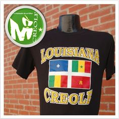 Louisiana 'Creole' T-shirt Louisiana Creole, Mens Tops, Mondays, Fashion Design, Capricorn, Shirts, Clothes, Spanish, French