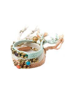 Friendship bracelets with a classy edge. Love.