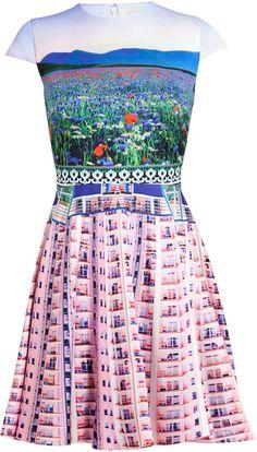 Mary Katrantzou Babelona Flat and Floral Printed Dress - Lyst