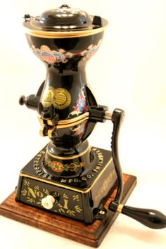 12in tall. table size. orig manufactured late 1870s. Enterprise MFG Company No. 1 Coffee Grinder Mill Antique Vintage Restored