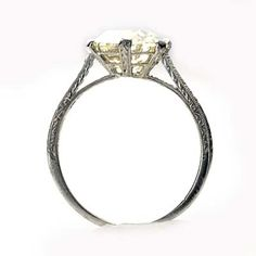I like the engraved details in shank. Leigh Jay Nacht Inc. - Early Art Deco Engagement Ring - VR274-14