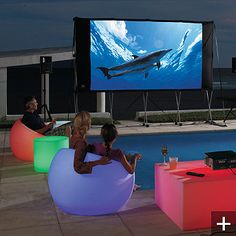 Create A Brilliant Outdoor Scene With Light Up Glow Furniture Which Glows Wirelessly