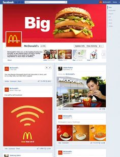 Sample McDonalds Timeline Fan Page (design commissioned by Mashable)