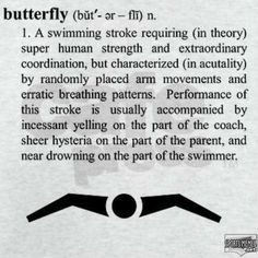 ...and that's why I don't swim fly