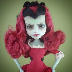 "399 Likes, 11 Comments - PodlyDolls (@podlydolls) on Instagram: ""The Red Queen -a commission from last year. #monsterhighcustom #monsterhighrepaint #mhcustom…"""