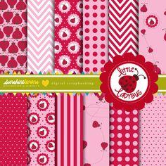 Little Ladybug / Ladybird Digital Scrapbooking Paper