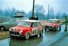 1968 San Remo rally No.40 Aaltonen / Liddon ....No.41 Fall / Wood.