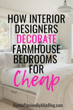If You Are Looking For Tons Of Bedroom Inspiration This Post Is For You. You Will Get Ideas To Decorate Your Perfect Master Bedroom Or Guest Bedroom On A Budget. On the off chance that You Like White And Gray Decor You Can See It Here. Bedroom Design On A Budget, Guest Bedroom Decor, Guest Bedrooms, Master Bedrooms, Design Bedroom, Bedroom Wall, Guest Room, Bedroom Furniture, Bedroom Ideas
