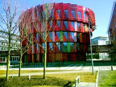 the cogwheel - Kuggen, Chalmers University, Gothenburg, Sweden    red copse