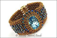 La Manchette de Versailles by Manek-Manek Beads - Jewelry | Kits | Beads | Patterns