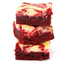 Red Velvet Cheesecake Brownies Ingredients: 1/2 cup unsalted butter 2-oz dark chocolate, coarsely chopped 1 cup sugar 2 large eggs 1 tsp vanilla extract 1 1/2 teaspoon red food coloring 2/3 cup all purpose flour 1/4 teaspoon salt 8-oz cream cheese, room temperature 1/3 cup sugar 1 large egg 1/2 tsp vanilla extract Directions: