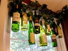 Ooh!  I may have to decorate the front of our wine store with this treatment!  Fabulous idea!