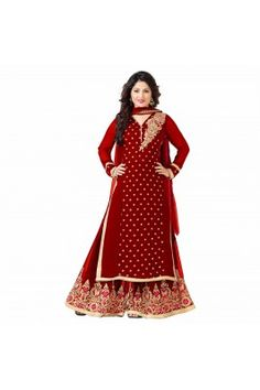 Appear majestic this Eid wearing this red coloured georgette Pakistani lawn suit. #pakistanilawnsuits #pakistanilawnsuitsforwomen #womensethnicwear #womensfashion https://trendybharat.com/women/ethnics-wear/women-ethnic-wear-pakistani-lawn-suits/red-georgette-embroidered-pakistani-suit-set-is-57-ugc-12