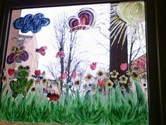 Okno naszego przedszkola. Moje dzielo