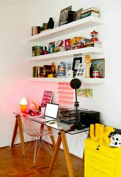 27 Trendy home office pequeno clean Home Office Space, Home Office Design, Home Office Decor, House Design, Home Decor, Office Ideas, Office Setup, Office Workspace, Desk Ideas