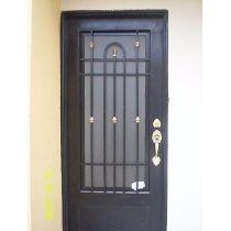 Puertas De Forja Iron Doors, Iron Gates, Tall Cabinet Storage, Locker Storage, Window Grill Design, Main Door Design, Door Gate, Custom Made Furniture, Security Door