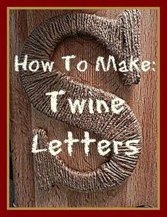 DIY: Twine Letters